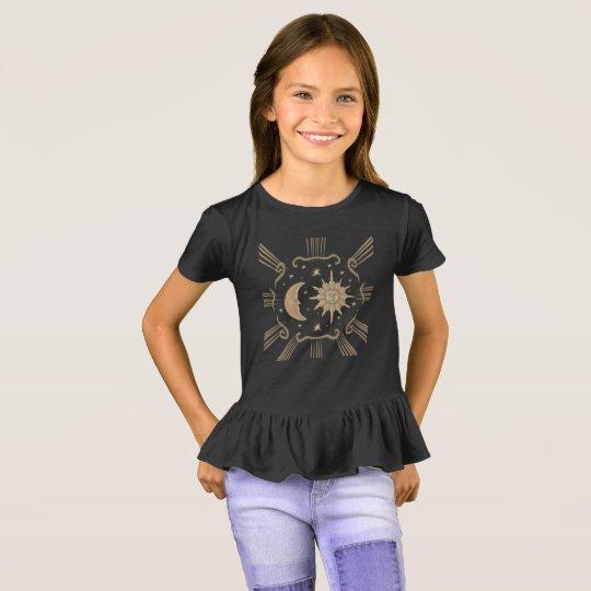 Girls sun and moon, spiritual shirt design.