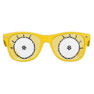 Girl's Sunglasses Yellow Cartoon Eyes