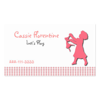 Girl's Sweet calling Card Pack Of Standard Business Cards