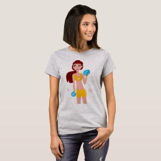 Girls t-shirt grey with Original Fitness art