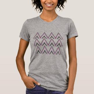 Girls t-shirt grey with zigzag Stripes