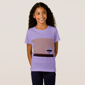Girls t-shirt with Africa - purple edition