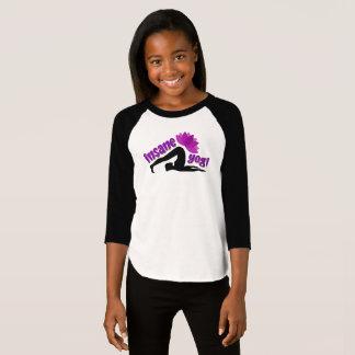 Girls' T-Shirt with Insane Yogi sign