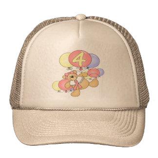 Girls Teddy Bear 4th Birthday Gifts Cap