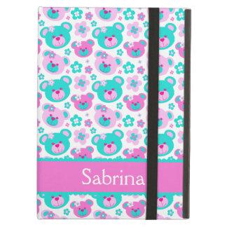 Girls teddy bear flower graphic ipad powis case iPad air covers