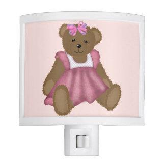 Girl's Teddy Bear Night Light
