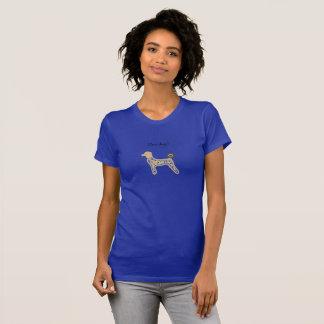Girls Tee shirt blue dogs custom