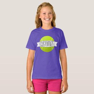 Girls Tennis Custom Text Team T-shirts