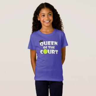 Girls Tennis Queen of the Court Cute Tennis Player T-Shirt