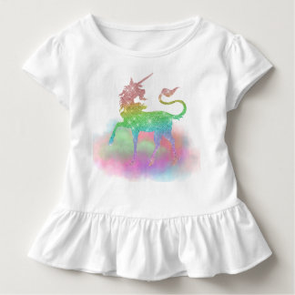 Girls toddler rainbow unicorn Fantasy t-shirt