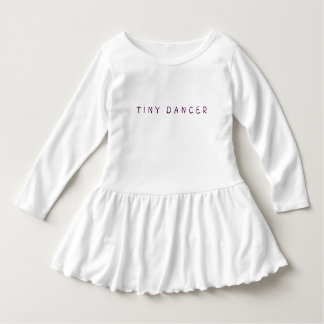 "Girl's Toddler ""TINY DANCER"" Ruffle Dress"
