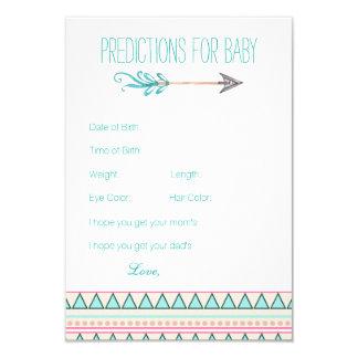 Girls Tribal Arrow Predictions Advice Cards 9 Cm X 13 Cm Invitation Card