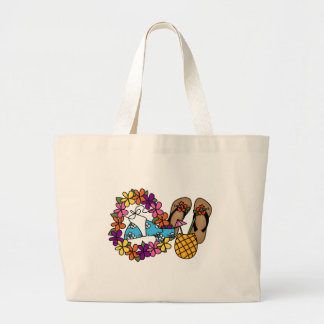 Girls Tropical Flip Flops Two Bag