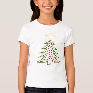 Girls TShirt Fitted Christmas Tree