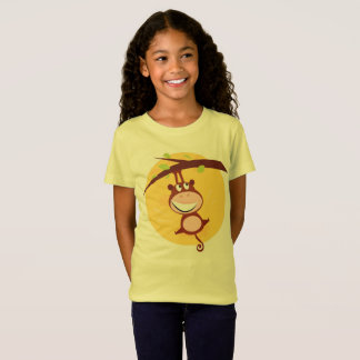 Girls tshirt with Monkey / YELLOW