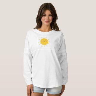 Girls tshirt with yellow Sun Spirit Jersey