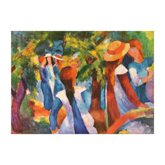 Girls Under the Trees August Macke Canvas Print
