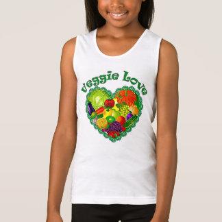 Girls Veggie Love Cami Singlet
