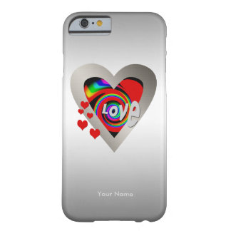 """Girls """"Vibrant Heart"""" Barely There iPhone 6 case"""