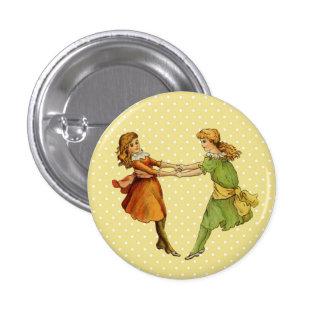 Girls Vintage Best Friends Button