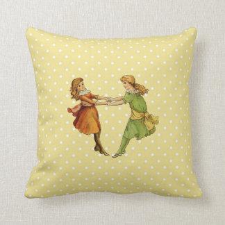 Girls Vintage Best Friends Pillows