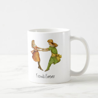 Girls Vintage Best Friends Coffee Mugs