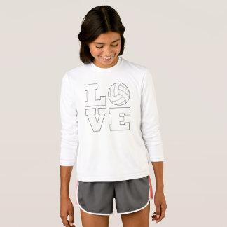 Girls Volleyball Love Cute T-shirt
