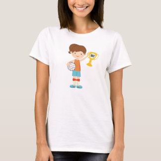 Girls Volleyball Player Trophy T-Shirt