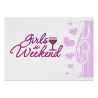 girls weekend night out party bridal wedding fun poster