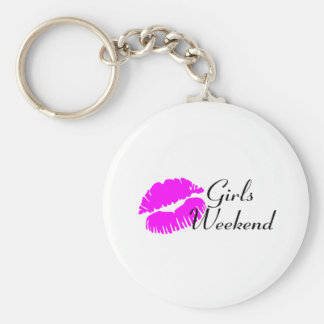 Girls Weekend (Pink Lips) Key Ring