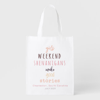 Girls' Weekend Shenanigans Customizable Reusable Grocery Bag