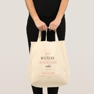 Girls' Weekend Shenanigans Customizable Tote Bag