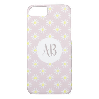 Girl's Whimsical Cute Daisy Flower Monogram iPhone 8/7 Case
