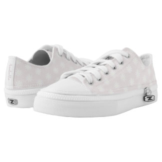 Girl's Whimsical Pink Daisy Flower Pattern Name Low Tops