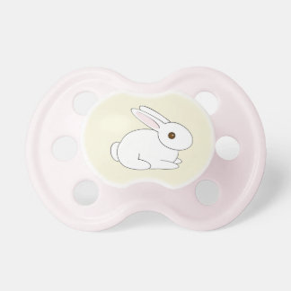 Girls' White Bunny Pacifier
