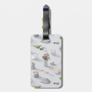 Girl's White Dream Luggage Tag