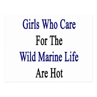 Girls Who Care For The Wild Marine Life Are Hot Post Card