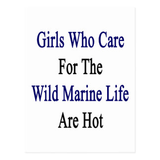 Girls Who Care For The Wild Marine Life Are Hot Post Cards