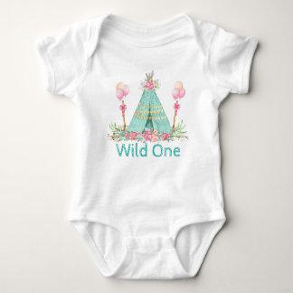 Girls Wild One Birthday Shirts
