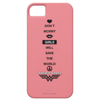 Girls Will Save The World Wonder Woman Graphic iPhone 5 Covers