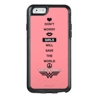 Girls Will Save The World Wonder Woman Graphic OtterBox iPhone 6/6s Case