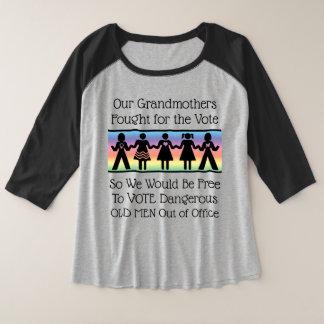 Girls Will Vote Plus Size Raglan T-Shirt