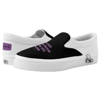 Girls with dreams become women with purpose slip on shoes