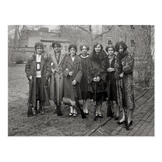 Girls With Rifles, 1925 Postcard
