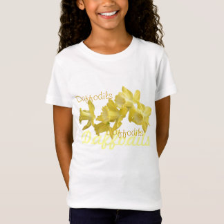 Girls Yellow Spring Daffodils Shirt
