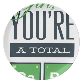 girls you are a total babe, cute funny geek design plate