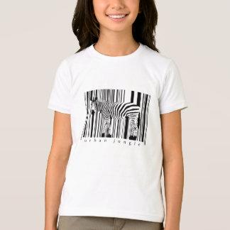 Girls Zebra t-shirt Ringer style