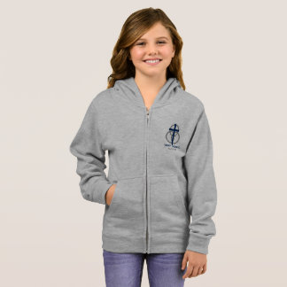 Girl's Zip-up: Traditional Logo Hoodie