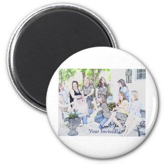 GirlsOinvite 6 Cm Round Magnet