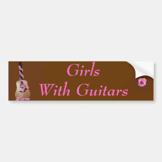 GirlsWith Guitars Bumper Sticker